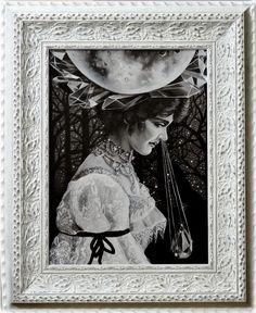 """Marta Julia Piórko,""""Wpływ księżyca"""", oil on canvas, 30 x 40 cm, 2016"""