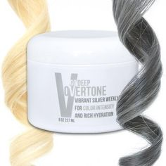 Get a smoky gray hair color with oVertone color conditioners. They color your hair like a silver dye, but without the damage! They're the BEST for faux grays.