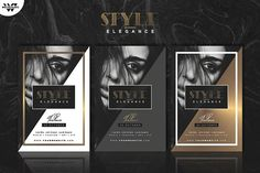 GOLD ELEGANCE Flyer Template by WG VISUALARTS on @creativemarket