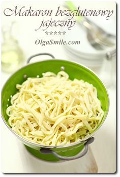 South Beach Diet, Clean Eating, Spaghetti, Food And Drink, Gluten Free, Cooking, Ethnic Recipes, Pierogi, Impreza