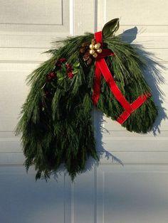 horsehead christmas wreath - Google Search