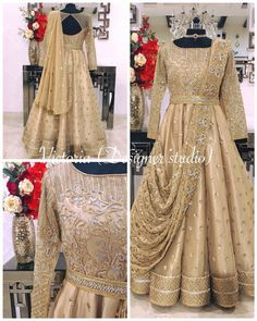 Pearl_designers Book ur dress now Completely stitched Customised in all colours For booking ur dress plz dm or whatsapp at 91 9654014206 Indian Wedding Gowns, Indian Gowns Dresses, Pakistani Wedding Outfits, Indian Bridal Lehenga, Bridal Outfits, Pakistani Dresses, Wedding Dress, Saree Gown, Anarkali Dress