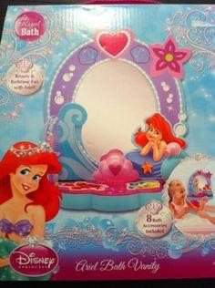 Disney Princess Royal Bath Ariel Bath Vanity 8 Bath Accessories Included.  #Disney #Toy