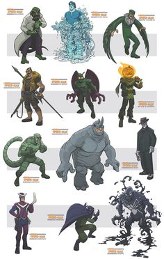 awesome spiderman villains III by jimmymcwicked.deviantart.com on @deviantART