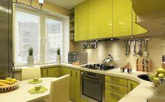 Разные оттенки зелёного цвета в дизайне интерьера кухонь - частое явление. И это вполне объяснимо. В психологии зелёный цвет — символ жизни, гармонии, единения людей и природы. Он помогает быть