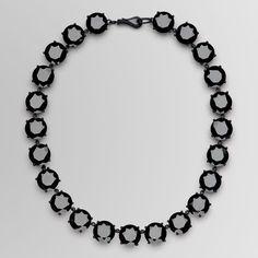 Bottega Veneta Nero Silver Zircon Necklace, (as seen on Anna Wintour), $2,100