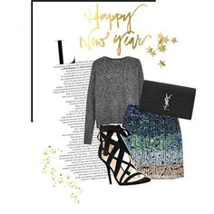 Happy New Year! by twinklepink on Polyvore featuring мода, French Connection, Nine West, Yves Saint Laurent and H&M