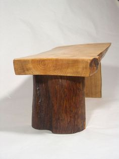 Handmade Rustic Wooden Footstool #Unbranded #Country