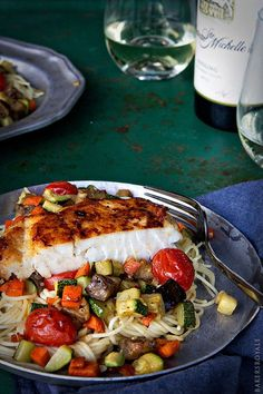 Halibut Ratatouille from Bakers Royale