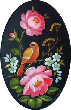 Наиля ))) - ОВАЛЬНЫЕ. Распечатаю. | OK.RU Acrylic Painting Lessons, One Stroke Painting, Tole Painting, Fabric Painting, Folk Art Flowers, Flower Art, Fabric Paint Designs, Art Decor, Decoration