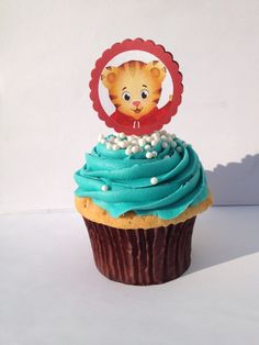 Daniel Tiger's neighborhood cupcake toppers, 20 ct / katarina meow meow / o the owl / price wednesday / miss elena / pbs kids by ZuzusBOWtique on Etsy