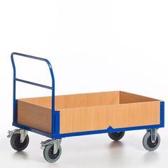GTARDO.DE:  Bordwandwagen, Tragkraft 500 kg, Ladefläche 850x470 mm, Maße 920x500 mm, Rad-Ø 160 mm 245,00 €