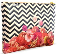 CHEVRON FLORA II BY BIANCA GREEN Create and Case Vegan Bag