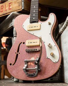 "9 Volt Junkie on Instagram: ""Like ruby red slippers for tone. Care of @veritasguitars 🔥"" Guitar Keys, Guitar Art, Telecaster Thinline, Ruby Red Slippers, Amazing Red, Beautiful Guitars, Fender Guitars, Custom Guitars, Vintage Guitars"