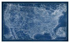 World Art Group, US Map Blueprint