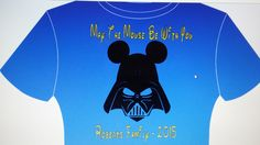 Mouse Vader - Darth Vader with Mickey ears - Star Wars fun.  Iron-on for T-Shirts by GigisFlowerFancy on Etsy