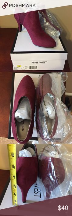 NWT! Nine West Cabernet booties suede! Size 8! NWT! Nine West Cabernet booties suede! Size 8!  NEW WITH BOX! Nine West Shoes Ankle Boots & Booties