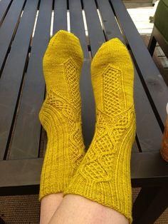 Schwabische Socks by Lisa Stichweh    (stephieknitz's version) #knit #socks