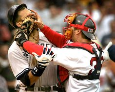Red Sox catcher Jason Varitek will announce his retirement on Thursday. This is an iconic photo of Tek's scuffle with A-Rod in 2004. It proved to be a turning point in their first championship season in 86 years.