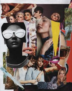 Untitled Collage © Anne Errelis-Phillips   Collage made using images from fashion magazines (mainly Vogue US and Harper's Bazaar US).