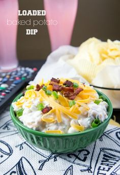 Easy Loaded Baked Potato Dip, tried this last night and I was skeptical with the ingredients but it was fantastic!