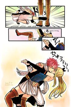Natsu and Lucy (NaLu). That's something Natsu would do