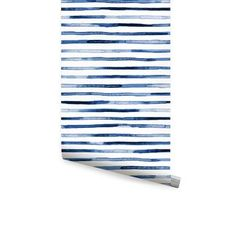 Simple Shapes Watercolor Stripes Peel-and-Stick Wallpaper