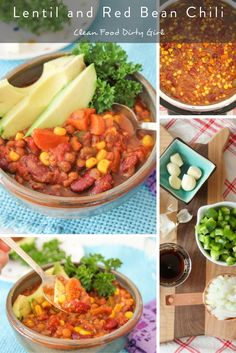 Lentil and Red Bean Chili (Instant Pot)