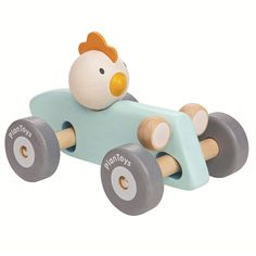 Plan Toys Chicken Racing Car - Blue
