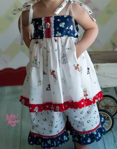 Girls Clothing Baby Ellie Top in Country Gals by MarieVivDesigns,