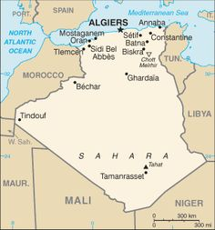 """ALGERIA TRAVEL WARNING: The U. Government """"warns U. citizens against travel to Algeria. Especially to the Kabylie region, and remote areas of southern and eastern Algeria, due to high threat of kidnappings. Algeria Travel, Geography For Kids, Country Maps, African Countries, African Tribes, Countries Around The World, In Ancient Times, Chor, New Travel"""