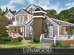 Lynwood is a cozy two storey home for a middle sim family.  Found in TSR Category 'Sims 4 Residential Lots'