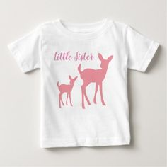 Little Sister Vest Baby T-Shirt - baby gifts child new born gift idea diy cyo special unique design