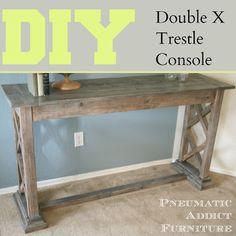 Double X Trestle Console