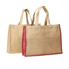 Un-Laminated Jute Shopping Bag With Self Handles #JuteJungle