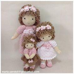 MARIA SANDOLI - Buscar con Google Crochet Fairy, Crochet Home, Cute Crochet, Beautiful Crochet, Beautiful Dolls, Amigurumi Patterns, Amigurumi Doll, Crochet Patterns, Knitted Dolls