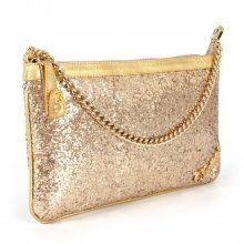 Bolsa Glitter Dourado Carmen Steffens