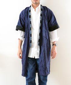 野良着 藍染 絣 40~50年代 アンティーク着物 ジャパンヴィンテージ FUNS Man Fashion, Fashion Design, Kendo, Jacket Men, Yukata, Streetwear, Cool Outfits, Kimono Top, Japanese
