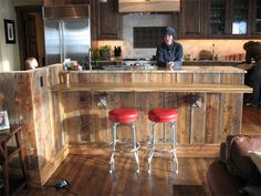 old barn wood ideas | Reclaimed Barn Wood in Kitchens - her social network