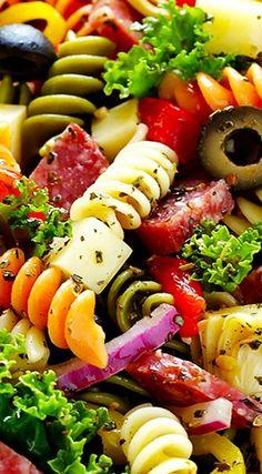 Rainbow Antipasto Pasta Salad