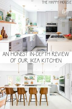 If you are considering installing an Ikea kitchen then you must read my honest in depth review or our Ikea kitchen with Grimlov Grey Ikea cabinets. Modern Classic, Mid-century Modern, Ikea Cabinets, Blue Home Decor, Ikea Kitchen, Coastal Homes, Table, House, Furniture