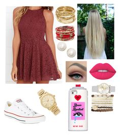 """Random!!!"" by elliethemunchkin on Polyvore featuring Lucy Love, Lime Crime, Converse, Jessica Carlyle, Valfré, Amrita Singh, ABS by Allen Schwartz, Michael Kors and Kate Spade"