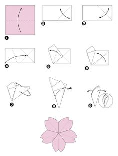 Art e Design: Fazendo Arte - Flor de Cerejeira em Papel Seda PAP