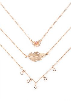 Like A Feather Layered Necklace 14,90 € #happinessbtq