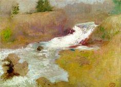 The Cascade in Spring - John Henry Twachtman