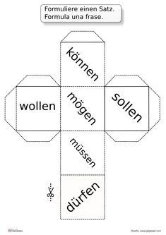 Deutsche Modalverben einmal anders. Spielerisches Unterrichtsmaterial.