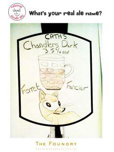 Doodle Day begins! Here's Cath's first doodle, our 'Chandler Dark Ferret Fancier' #doodle #Beer