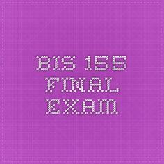 BIS 155 Final Exam