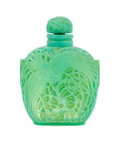 A Rene Lalique Glass Perfume Bottle