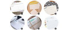 Tarjetas imprimibles para tus recetas